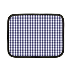 USA Flag Blue Large Gingham Check Plaid  Netbook Case (Small)