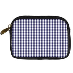 Usa Flag Blue Large Gingham Check Plaid  Digital Camera Cases