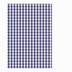 USA Flag Blue Large Gingham Check Plaid  Small Garden Flag (Two Sides)