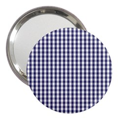 USA Flag Blue Large Gingham Check Plaid  3  Handbag Mirrors