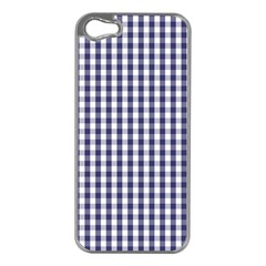 USA Flag Blue Large Gingham Check Plaid  Apple iPhone 5 Case (Silver)