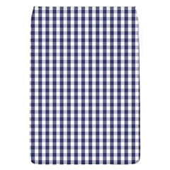 USA Flag Blue Large Gingham Check Plaid  Flap Covers (L)