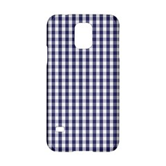 USA Flag Blue Large Gingham Check Plaid  Samsung Galaxy S5 Hardshell Case