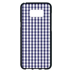 Usa Flag Blue Large Gingham Check Plaid  Samsung Galaxy S8 Plus Black Seamless Case