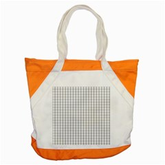 Christmas Silver Gingham Check Plaid Accent Tote Bag