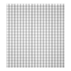 Christmas Silver Gingham Check Plaid Shower Curtain 66  x 72  (Large)