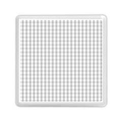 Christmas Silver Gingham Check Plaid Memory Card Reader (Square)