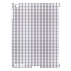 Christmas Silver Gingham Check Plaid Apple iPad 3/4 Hardshell Case (Compatible with Smart Cover)