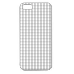 Christmas Silver Gingham Check Plaid Apple Seamless iPhone 5 Case (Clear)