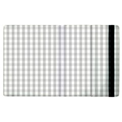 Christmas Silver Gingham Check Plaid Apple iPad 2 Flip Case