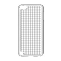 Christmas Silver Gingham Check Plaid Apple iPod Touch 5 Case (White)