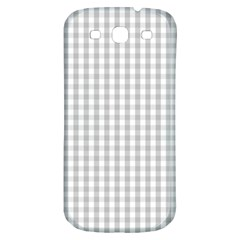 Christmas Silver Gingham Check Plaid Samsung Galaxy S3 S III Classic Hardshell Back Case