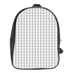 Christmas Silver Gingham Check Plaid School Bags (xl)