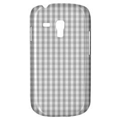 Christmas Silver Gingham Check Plaid Galaxy S3 Mini