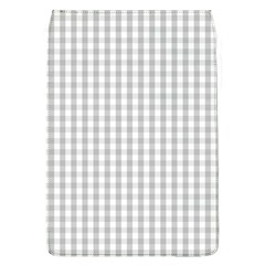 Christmas Silver Gingham Check Plaid Flap Covers (L)