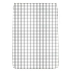 Christmas Silver Gingham Check Plaid Flap Covers (s)