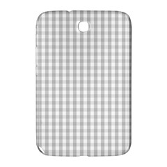 Christmas Silver Gingham Check Plaid Samsung Galaxy Note 8.0 N5100 Hardshell Case
