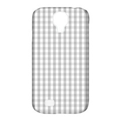 Christmas Silver Gingham Check Plaid Samsung Galaxy S4 Classic Hardshell Case (PC+Silicone)