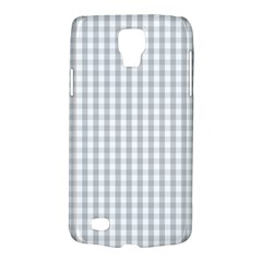Christmas Silver Gingham Check Plaid Galaxy S4 Active