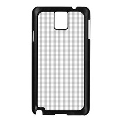 Christmas Silver Gingham Check Plaid Samsung Galaxy Note 3 N9005 Case (Black)