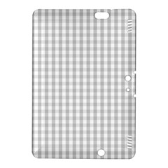 Christmas Silver Gingham Check Plaid Kindle Fire HDX 8.9  Hardshell Case