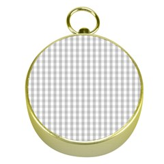 Christmas Silver Gingham Check Plaid Gold Compasses