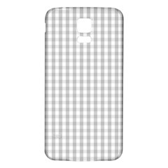 Christmas Silver Gingham Check Plaid Samsung Galaxy S5 Back Case (White)