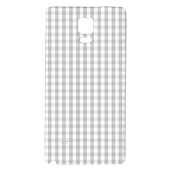 Christmas Silver Gingham Check Plaid Galaxy Note 4 Back Case