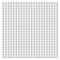 Christmas Silver Gingham Check Plaid Large Satin Scarf (Square)