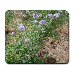 Purple Wildflowers Large Mousepads