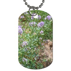 Purple Wildflowers Dog Tag (One Side)