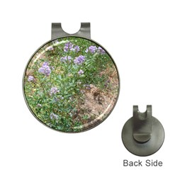 Purple Wildflowers Hat Clips with Golf Markers