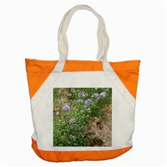 Purple Wildflowers Accent Tote Bag