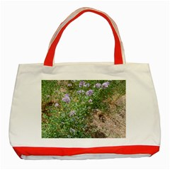 Purple Wildflowers Classic Tote Bag (Red)