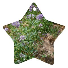 Purple Wildflowers Star Ornament (Two Sides)