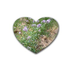 Purple Wildflowers Heart Coaster (4 pack)