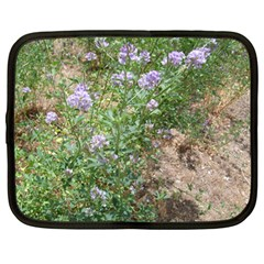 Purple Wildflowers Netbook Case (Large)