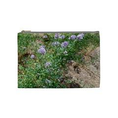 Purple Wildflowers Cosmetic Bag (Medium)