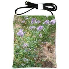 Purple Wildflowers Shoulder Sling Bags