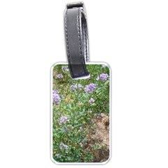 Purple Wildflowers Luggage Tags (One Side)