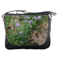 Purple Wildflowers Messenger Bags