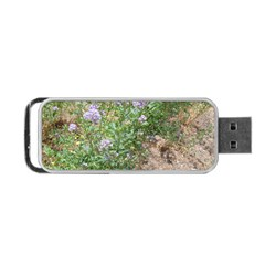 Purple Wildflowers Portable USB Flash (One Side)