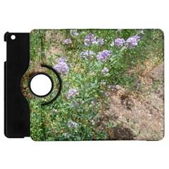Purple Wildflowers Apple Ipad Mini Flip 360 Case