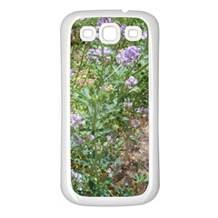 Purple Wildflowers Samsung Galaxy S3 Back Case (White)