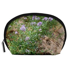 Purple Wildflowers Accessory Pouches (Large)