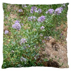 Purple Wildflowers Standard Flano Cushion Case (Two Sides)