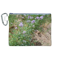 Purple Wildflowers Canvas Cosmetic Bag (XL)