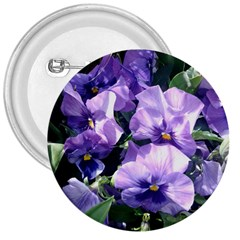 Purple Pansies 3  Buttons