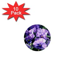 Purple Pansies 1  Mini Buttons (10 pack)