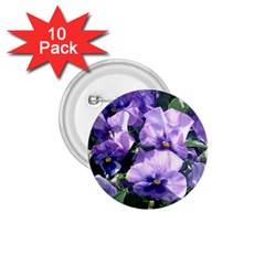 Purple Pansies 1.75  Buttons (10 pack)